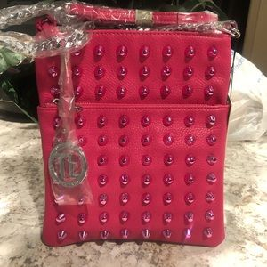 Hot Pink Stud N' Chic Crossbody and Wristlet Set